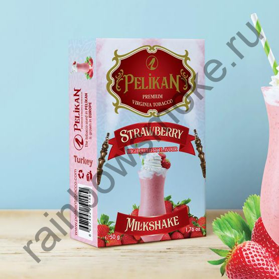 Pelikan 50 гр - Strawberry Milkshake (Клубничный Молочный Коктейль)