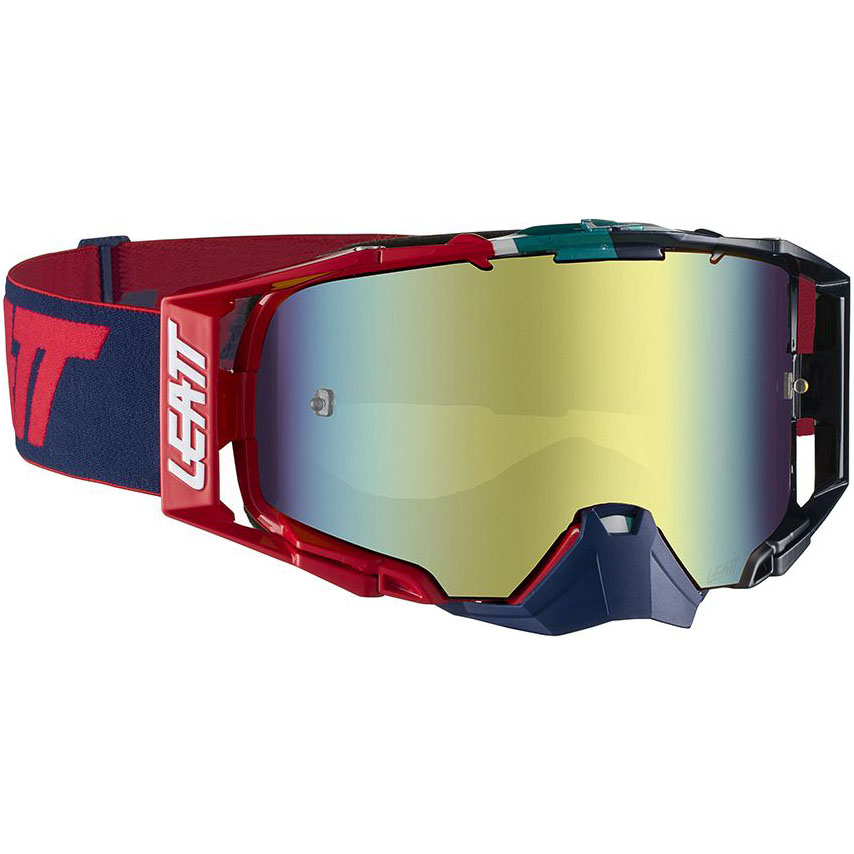 Leatt Velocity 6.5 Iriz Ink/Red Bronze UC 20%, очки красно-синие