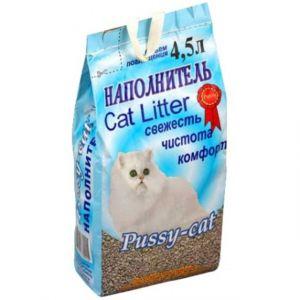 Наполнитель для кошек Pussy-Cat Впитывающий цеолитовый  4,5л
