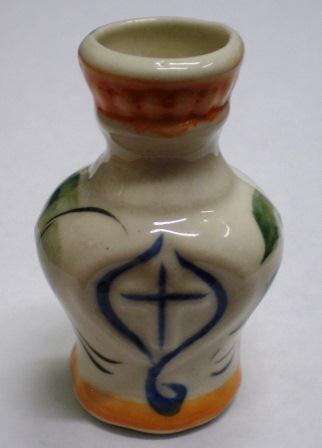 Подсвечник греческий с крестом (амфора) расписной