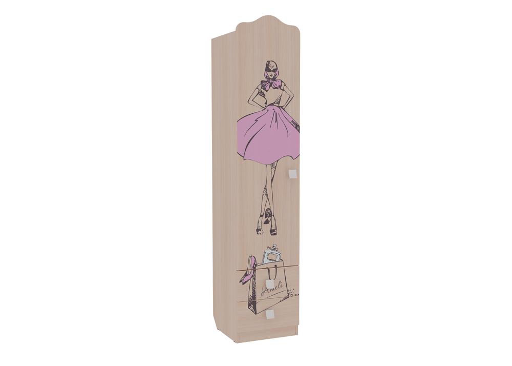 Детская Амели Шкаф 1-створчатый (с ящиками)