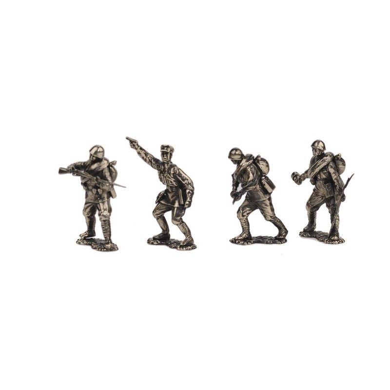 Набор солдатиков.Пехота красной армии №1 (4шт)