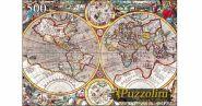 Puzzolini. ПАЗЛЫ 500 элементов. ДРЕВНЯЯ КАРТА МИРА (арт. KBPZ500-7698)