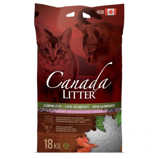 "Наполнитель Canada Litter Канадский комкующийся ""Запах на Замке"" с ароматом лаванды, Scoopable Litter 12кг"