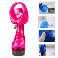 Портативный ручной вентилятор с пульверизатором Water Spray Fan, Цвет: Малиновый