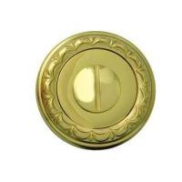 Накладка-фиксатор круглая Melodia 50 D WC. латунь полированная