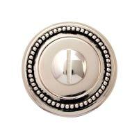 Накладка-фиксатор круглая Melodia 50 L WC. серебро 925+черный