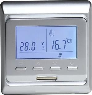 Электронный програмируемый терморегулятор E 51,716 серебристый