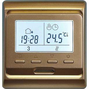 Электронный програмируемый терморегулятор E 51,716 золотистый