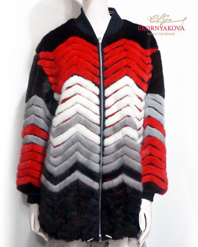 Двусторонняя куртка из норки