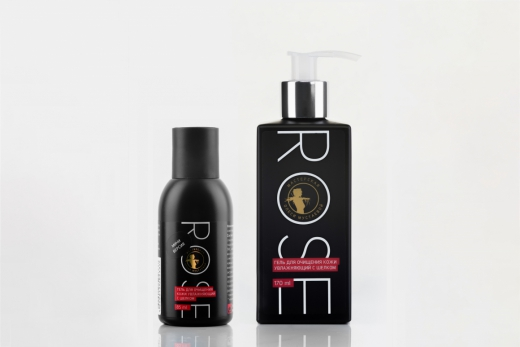 Rose гель для очищения кожи увлажняющий с шелком, 45 мл