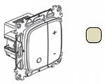752862 Valena ALLURE. Светорегулятор кнопочный универсальный 400Вт без нейтрали. С лицевой панелью. Слоновая кость Legrand