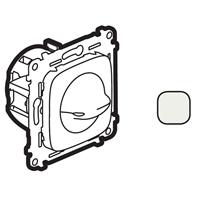 755179 Valena ALLURE. Выключатель вентилятора 4-позиционный. С лицевой панелью. Винтовые зажимы. Жемчуг Legrand