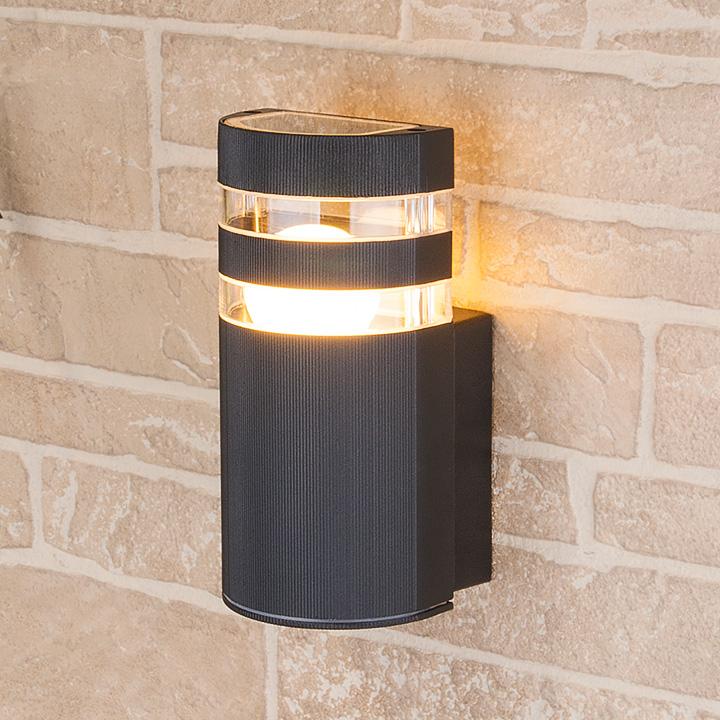 Уличный настенный светильник Elektrostandard 1444 TECHNO черный