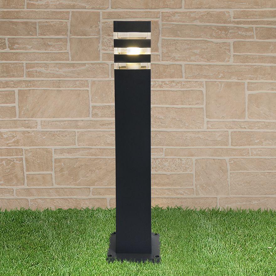 Уличный светильник на столбе Elektrostandard 1550 TECHNO черный