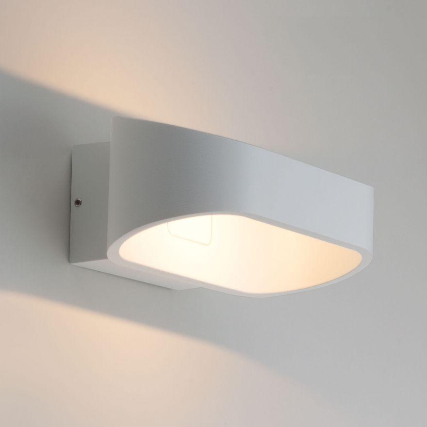 Уличный настенный светодиодный светильник Elektrostandard 1706 TECHNO LED POINT белый