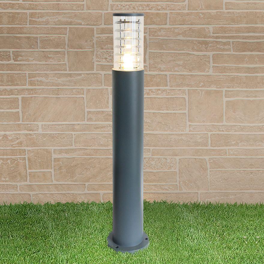 Уличный светильник на столбе Elektrostandard 1507 TECHNO серый