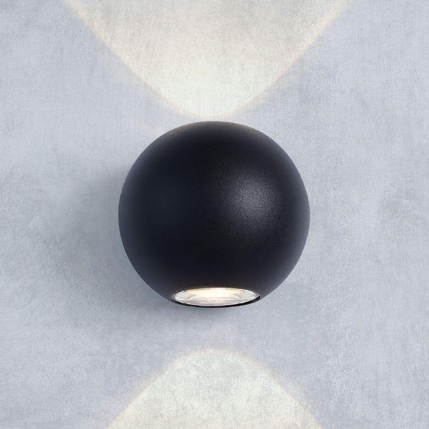 Уличный настенный светодиодный светильник Elektrostandard 1566 TECHNO LED DIVER черный