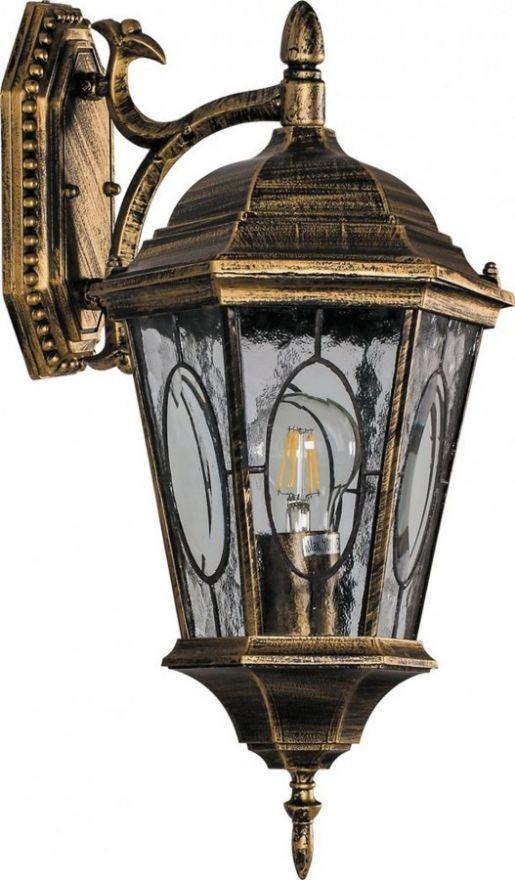 Светильник садово-парковый Feron PL151 шестигранный на стену вниз