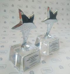 заказать награды из стекла с логотипом