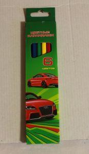 ! цветные карандаши 6шт, ячейка: 12