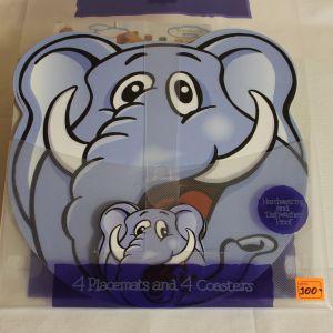 ! набор под горячее для тар и круж по 4шт слон сер, ячейка: 22