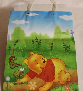 ! пакет сумка подар пластик винни и цветок 34*25,5, ячейка: 22