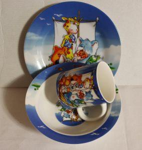 ! набор посуды фарф звери на плоту, ячейка: 47