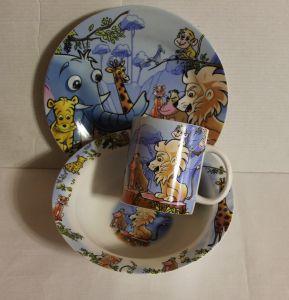 ! набор посуды фарф джунгли, ячейка: 47