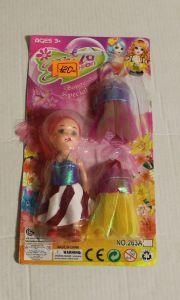 ! кукла 10см + 2 платья, ячейка: 55