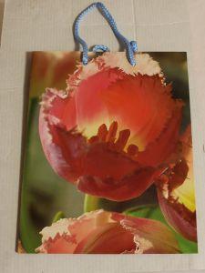 ! пакет с ручками тюльпан 23*18см, ячейка: 62