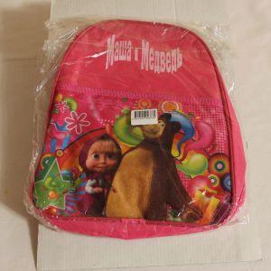 ! рюкзак маша и миша 1отд+карман текст, ячейка: 69