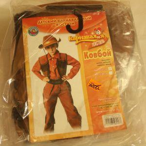 ! ковбой шляпа рубашка жилет брюки р 134, ячейка: 95
