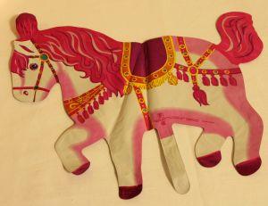 ! шар фольг лошадь роз, ячейка: 98