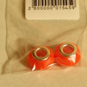 ! бусина дбраслета оранж 2шт, ячейка: 106