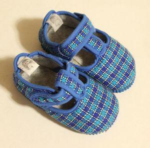 ! детс тапочки-туфельки син клетка размер 125, ячейка: 141