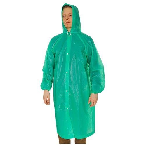 Виниловый плащ-дождевик для взрослых, зелёный