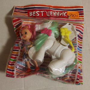 ! лошадка с крыльями+кукла, ячейка: 37