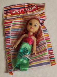 ! кукла зел платье 15см, ячейка: 37