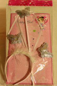 ! набор ободок бабочки и палочка сереб, ячейка: 95