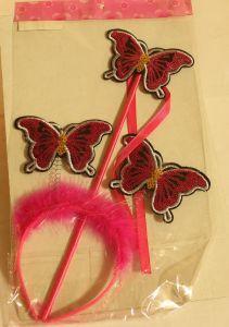 ! набор ободок бабочки и палочка малиновочерн, ячейка: 95