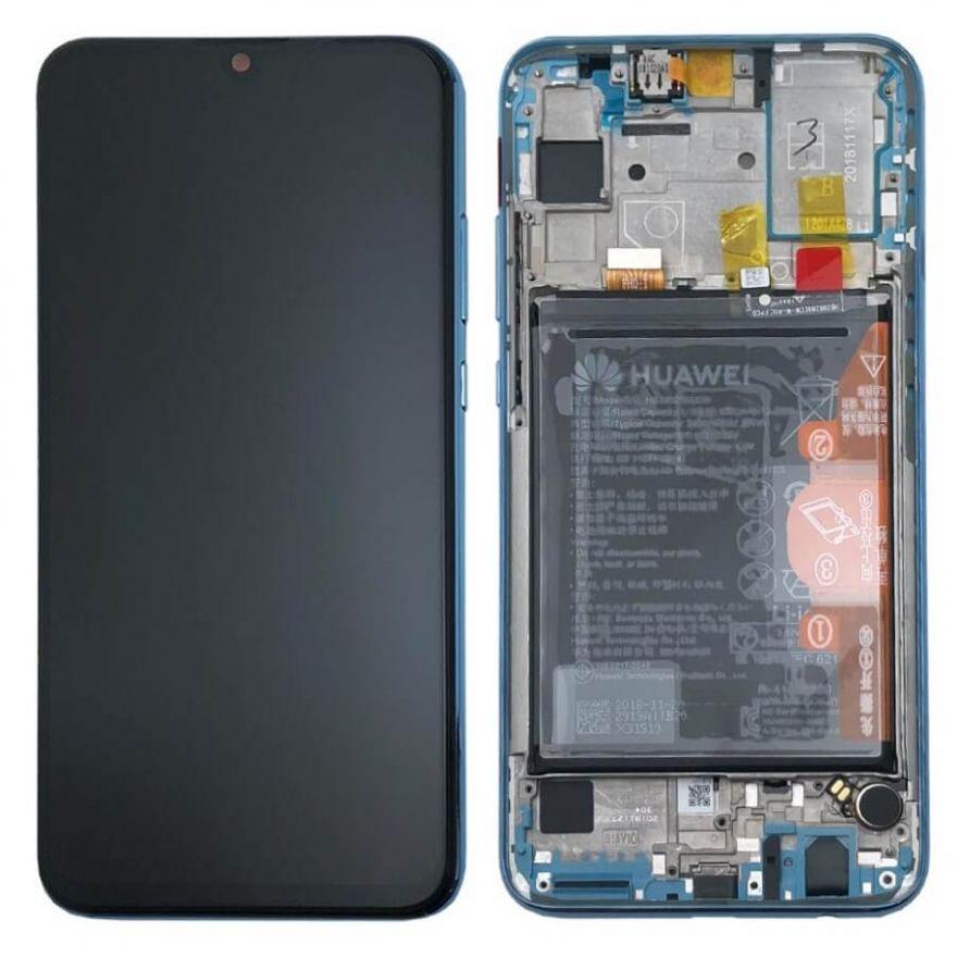 Дисплей в сборе с сенсорным стеклом, корпусом и аккумулятором для Huawei Honor 10 Lite (Original)