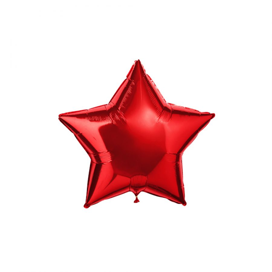 Шар ЗВЕЗДА красная с гелием