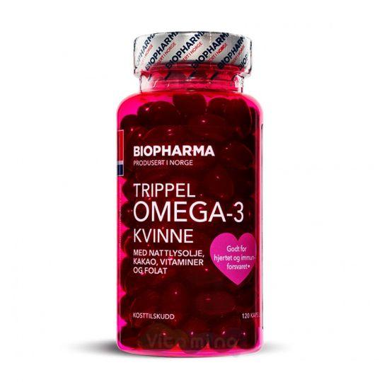 Trippel Omega-3 Kvinne Тройная Омега-3 для женщин с фолиевой кислотой и витаминами