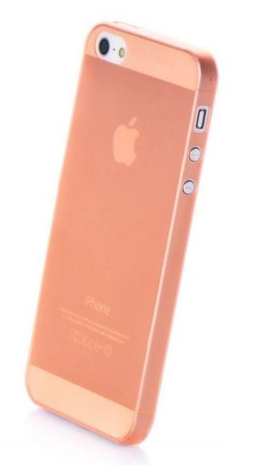 Чехол накладка Gurdini iPhone 5/5S/SE пластик ультратонкий 0.2 оранжевый