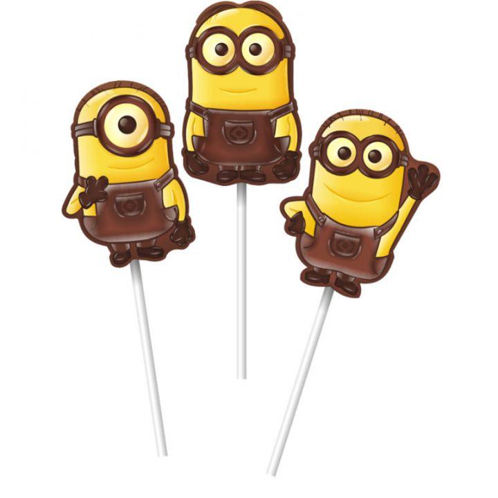 Шоколад Миньоны с печеньем на палочке 24г