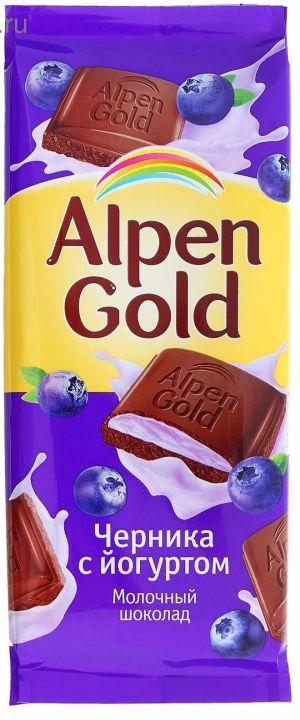 Шоколад Alpen Gold черника с йогуртом 90г