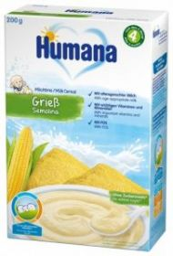 Kaşa südlü Humana Qarğıdalı , 200 gr