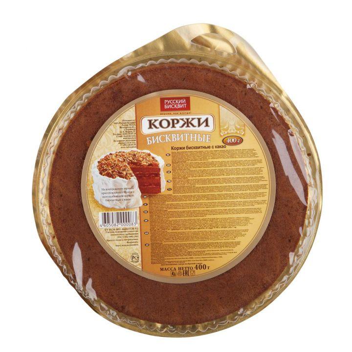 Коржи Русский бисквит темные 400г
