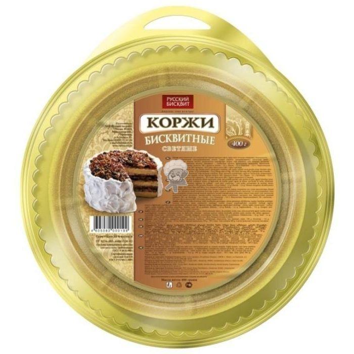 Коржи Русский бисквит светлые 400г